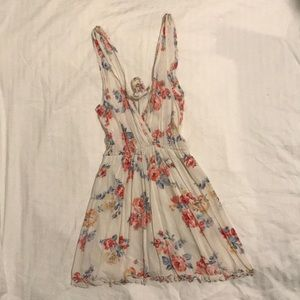 Floral Wet Seal Mini Dress (size small)